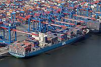 CTA Altenwerder: EUROPA, DEUTSCHLAND, HAMBURG, (EUROPE, GERMANY), 01.07.2008: Altenwerder, CTA, Container, Schiff, Kran, Ladung, Boom, Containerbruecken, containers, Containerschiff, Containerschiffe, Containerterminal, Containerumschlag, Containerverkehr,  Elbe, Europa, europaeisch, Europe, European, Frachter, German, Germany, Haefen, Hafen, Hafenansicht, Hafenansichten, Hafenszene, Hafenszenen, Hafenszenerie, Hafenszenerien, Hamburg, harbor, harbor sceneries, harbor scenery, harbors, harbour, harbour sceneries, harbour scenery, harbours, Haven, HHLA Container Terminal Altenwerder,  Kraene, Kran, Norddeutschland, North German,  ocean shipping, Schiffahrt, Schiffe, See, APL Poland,  Aufwind-Luftbilder, Luftbild, Luftaufname, Luftansicht.c o p y r i g h t : A U F W I N D - L U F T B I L D E R . de.G e r t r u d - B a e u m e r - S t i e g 1 0 2, .2 1 0 3 5 H a m b u r g , G e r m a n y.P h o n e + 4 9 (0) 1 7 1 - 6 8 6 6 0 6 9 .E m a i l H w e i 1 @ a o l . c o m.w w w . a u f w i n d - l u f t b i l d e r . d e.K o n t o : P o s t b a n k H a m b u r g .B l z : 2 0 0 1 0 0 2 0 .K o n t o : 5 8 3 6 5 7 2 0 9.C o p y r i g h t n u r f u e r j o u r n a l i s t i s c h Z w e c k e,  V e r o e f f e n t l i c h u n g  n u r  m i t  H o n o r a r  n a c h M F M, N a m e n s n e n n u n g  u n d B e l e g e x e m p l a r !.