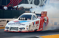 Jul. 26, 2013; Sonoma, CA, USA: NHRA funny car driver Jack Beckman during qualifying for the Sonoma Nationals at Sonoma Raceway. Mandatory Credit: Mark J. Rebilas-