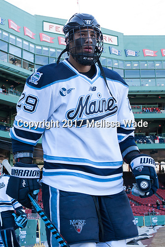 Daniel Perez (Maine - 29) - The University of Maine Black Bears defeated the University of Connecticut Huskies 4-0 at Fenway Park on Saturday, January 14, 2017, in Boston, Massachusetts.