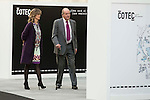 President of COTEC, Cristina Garmendia and King Juan Carlos during the main event of COTEC at Crystal Gallery of the Cibeles Palace in Madrid, Spain, November 23, 2015. <br /> (ALTERPHOTOS/BorjaB.Hojas)