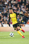 Borussia Dortmund Forward Pierre-Emerick Aubameyang in action during the Europe Champions League 2017-18 match between Real Madrid and Borussia Dortmund at Santiago Bernabeu Stadium on 06 December 2017 in Madrid Spain. Photo by Diego Gonzalez / Power Sport Images