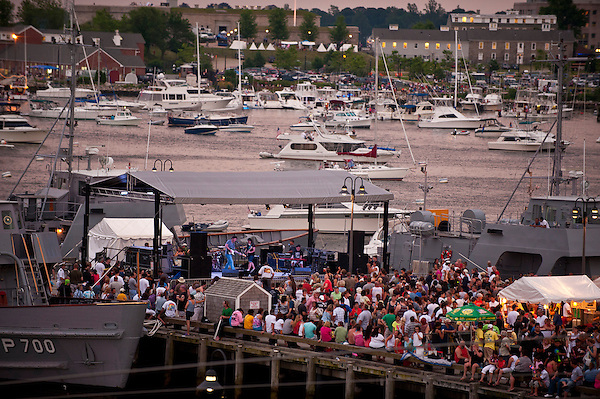 John Fries & the Heat playing on Custom House Pier during Sailfest 2012