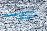 Aerial view of Kinik Glacier, Alaska