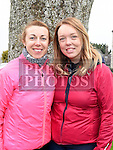 Melissa O'Connell and Aoife Webber who took part in the Ryan Coyle Run/Walk in Duleek. Photo:Colin Bell/pressphotos.ie