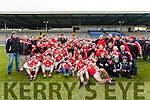 The Rahmore team celebrate defeating Dr Crokes in Fitzgerald Stadium on Sunday.