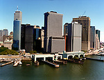 Aerial view of Financial District , Lower Manhattan,