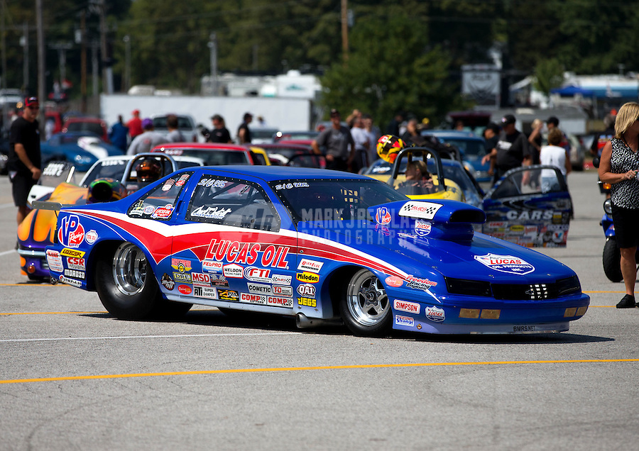 Aug. 30, 2013; Clermont, IN, USA: NHRA super comp driver Chuck Westcott during qualifying for the US Nationals at Lucas Oil Raceway. Mandatory Credit: Mark J. Rebilas-