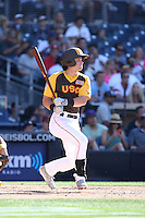 Andrew Benintendi of the USA Team bats against the World Team during The Futures Game at Petco Park on July 10, 2016 in San Diego, California. World Team defeated USA Team, 11-3. (Larry Goren/Four Seam Images)