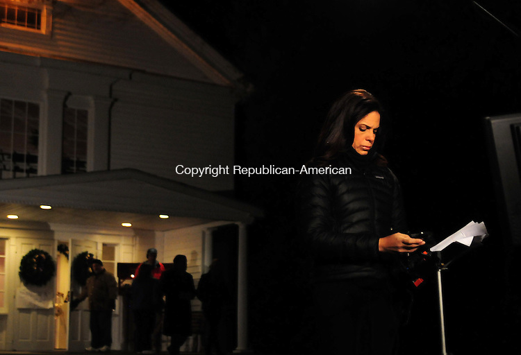 NEWTOWN, CT, 14 DEC 12-121412AJ34-  CNN's Soledad O'Brien in Newtown on Saturday during the cable channel's live coverage of the Sandy Hook shooting. Alec Johnson/ Republican-American