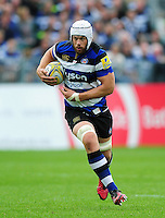 Dave Attwood of Bath Rugby in possession. Aviva Premiership match, between Bath Rugby and Worcester Warriors on September 17, 2016 at the Recreation Ground in Bath, England. Photo by: Patrick Khachfe / Onside Images