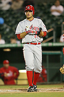 April 14, 2009:  Catcher Devin Mesoraco of the Sarasota Reds, Florida State League Class-A affiliate of the Cincinnati Reds, during a game at Roger Dean Stadium in Jupiter, FL.  Photo by:  Mike Janes/Four Seam Images