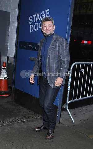 December 14, 2018.  Andy Serkis  at GMA Day to talk about new movie Mowgli: Legend of the Jungle in New York. December 14, 2018  Credit:RW/MediaPunch