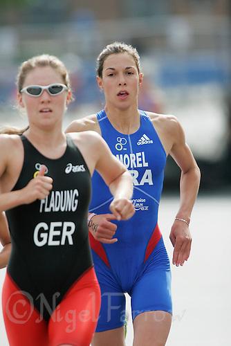 01 JUL 2007 - COPENHAGEN, DEN - Charlotte Morel (FRA) - European Relay Triathlon Championships. (PHOTO (C) NIGEL FARROW)