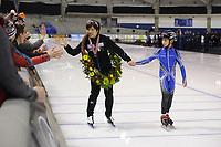 SCHAATSEN: CALGERY: 26-02-2017 ISU WC Sprint Calgary, Nao Kodaira<br /> <br /> &copy;foto Martin de Jong