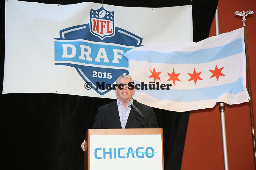Don Welsh (CEO Choose Chicago) bei der Vorstellung des neuen Draft Ortes Chicago, der 2015 New York nach 51 Jahren ablöst - Draft Pressekonferenz, Sheraton Downtown Phoenix Hotel
