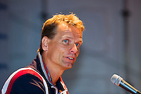 04-09-12, Netherlands, Alphen aan den Rijn, Tennis, Pressconference Daviscup Nl-Swiss,  Captain Jan Siemerink