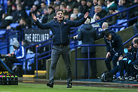 Bolton Wanderers' manager Phil Parkinson tries to rouse the home fans<br />