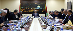 Palestinian Prime Minister, Rami Hamdallah, chairs a meeting of the Council of Ministers, in the West Bank city of Ramallah, on October 10, 2017. Photo by Prime Minister Office