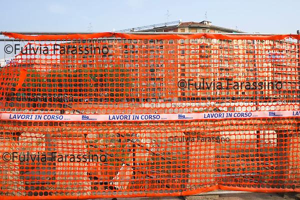 Milano, 30 ottobre 2014 Lavori in corso sulla Darsena. <br /> Work in progress
