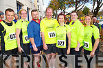 Kerry crusaders at the Tralee Carers 10k Mini Marathon at the Brandon Hotel on Sunday were from left: David Twomey (Listowel) Mary Twomey (Listowel) Owen Gibbons (Listowel) Tom Dillon (Ballybunion) Tina Griffin (Listowel) Grace Scanlon (Moyvane), Rochelle O'Riordan (Listowel).