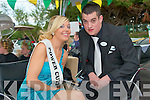Larura Sheehy representing Power Cuts with her escort Eoin Galvin during the parade at the Caili?n A?lainn festival in Lixnaw at the week end..   Copyright Kerry's Eye 2008