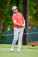 Scott Hebert (USA) watches his tee shot on 5 during Friday's round 2 of the PGA Championship at the Quail Hollow Club in Charlotte, North Carolina. 8/11/2017.<br /> Picture: Golffile | Ken Murray<br /> <br /> <br /> All photo usage must carry mandatory copyright credit (&copy; Golffile | Ken Murray)
