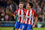 Atletico de Madrid's Nico Gaitán and Saúl Ñígez celebrating a goal during La Liga match between Atletico de Madrid and Real Betis at Vicente Calderon Stadium in Madrid, Spain. January 14, 2017. (ALTERPHOTOS/BorjaB.Hojas)