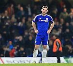 Chelsea's Bratislava Ivanovic looks on dejected at the final whistle<br /> <br /> - UEFA Champions League - Chelsea vs Paris Saint Germain - Stamford Bridge - London - England - 9th March 2016 - Pic David Klein/Sportimage