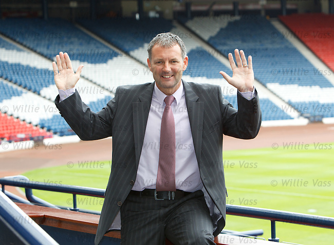 Kenny Black at Hampden as the ex Airdrie manager joins Craig Levein's setup as a coach for the Scottish National team