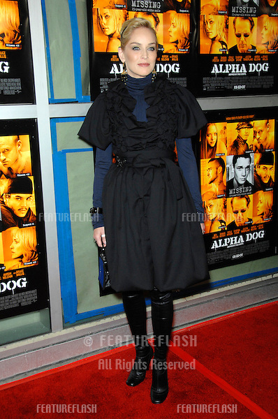 "SHARON STONE at the world premiere of her new movie ""Alpha Dog"" at the Arclight Theatre, Hollywood..January 3, 2007  Los Angeles, CA.Picture: Paul Smith / Featureflash"