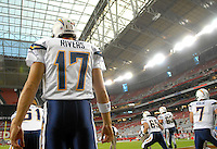 Aug 25, 2007; Glendale, AZ, USA; San Diego Chargers quarterback Philip Rivers (17) against the Arizona Cardinals at University of Phoenix Stadium. Mandatory Credit: Mark J. Rebilas-US PRESSWIRE Copyright © 2007 Mark J. Rebilas