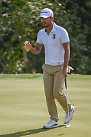 Satoshi Kodaira (JPN) after sinking his putt on 2 during day 2 of the WGC Dell Match Play, at the Austin Country Club, Austin, Texas, USA. 3/28/2019.<br /> Picture: Golffile | Ken Murray<br /> <br /> <br /> All photo usage must carry mandatory copyright credit (© Golffile | Ken Murray)