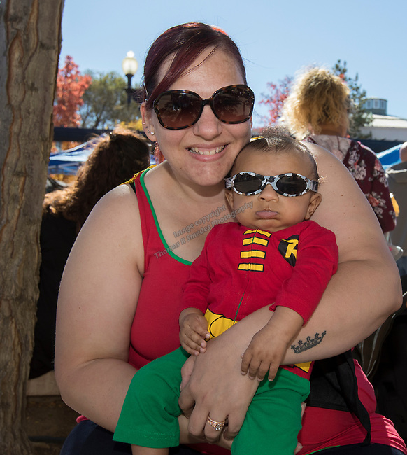 Christine and 15 week old Jeremiah during Pumpkin Palooza in Sparks, Nevada on Sunday, Oct. 22, 2017.