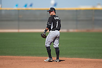 Chicago White Sox second baseman Eddy Alvarez (1) during a Minor League Spring Training game against the Cincinnati Reds at the Cincinnati Reds Training Complex on March 28, 2018 in Goodyear, Arizona. (Zachary Lucy/Four Seam Images)
