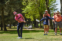 Rafael Cabrera Bello (ESP) chips on to 11 during round 2 of the World Golf Championships, Mexico, Club De Golf Chapultepec, Mexico City, Mexico. 2/22/2019.<br /> Picture: Golffile | Ken Murray<br /> <br /> <br /> All photo usage must carry mandatory copyright credit (© Golffile | Ken Murray)