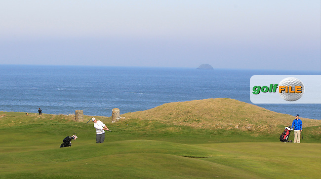 Thomas Mulligan (Co. Louth) during Round 3 of the 54 hole Stroke Play on April 10th  2015 for the 2015 Munster Youths' Open Championship, Tralee Golf Club, Tralee, Co.Kerry Ireland.<br /> Picture: Thos Caffrey / Golffile