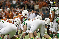 SAN ANTONIO, TX - DECEMBER 30, 2013: The University of Oregon Ducks face the University of Texas Longhorns in the 2013 Valero Alamo Bowl in the Alamodome. (Photo by Jeff Huehn)