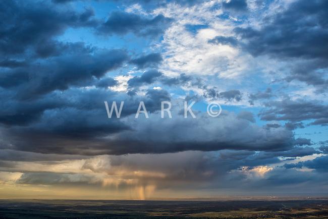 Stormy sky at sunset. Huerfano County, Colorado.  May 28, 2015