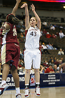 20 March 2006: Kristen Newlin during Stanford's 88-70 win over Florida State in the second round of the NCAA Women's Basketball championships at the Pepsi Center in Denver, CO.