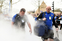 Toby Booth, Allan Ryan and the rest of Bath Rugby arrive at Twickenham. Gallagher Premiership match, The Clash, between Bath Rugby and Bristol Rugby on April 6, 2019 at Twickenham Stadium in London, England. Photo by: Patrick Khachfe / Onside Images