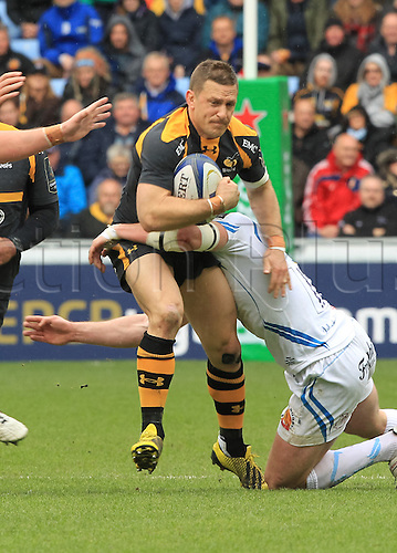 09.04.2016. Ricoh Arena, Coventry, England. European Champions Cup. Wasps versus Exeter Chiefs.  Wasps Jimmy Gopperth makes a break.