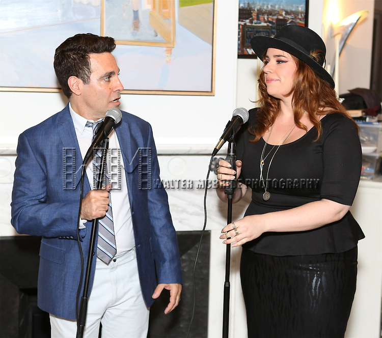 Mario Cantone and Alysha Umphress perform at 'Parlor Night' A benefit evening for The Broadway Inspirational Voices Outreach Program at the home of Roy and Jenny Neiderhoffer on June 22, 2015 in New York City.