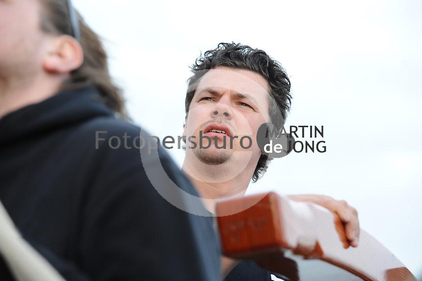 ZEILEN: GROU: 30-03-2017, Willem Zwaga nieuwe schipper van het skûtsje van Leeuwarden 'Rienk Ulbesz', ©foto Martin de Jong