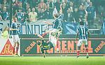 Solna 2014-08-13 Fotboll Allsvenskan AIK - Djurg&aring;rdens IF :  <br /> Djurg&aring;rdens Martin Broberg i kamp om bollen med AIK:s Kenny Pavey <br /> (Foto: Kenta J&ouml;nsson) Nyckelord:  AIK Gnaget Friends Arena Allsvenskan Derby Djurg&aring;rden DIF