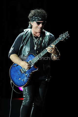 WEST PALM BEACH - MARCH 15: Neal Schon of Journey performs at the Coral Sky Amphitheatre on March 15, 2015 in West Palm Beach, Florida. Credit: mpi04/MediaPunch