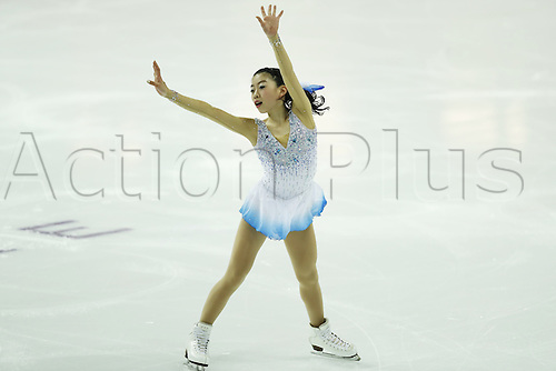 09.12.2016. Palais Omnisports, Marseille, France. ISU Junior Figure Skating Grand Prix Final.  Rika Kihira (JPN) competes in the Women's Free Program.