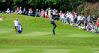 Jamie Lovemark (USA) on the 18th during round 3 of the 2016 BMW PGA Championship. Wentworth Golf Club, Virginia Water, Surrey, UK. 28/05/2016.<br /> Picture Fran Caffrey / Golffile.ie<br /> <br /> All photo usage must carry mandatory copyright credit (© Golffile   Fran Caffrey)