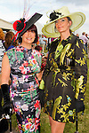 All dressed up for the the Bellewstown Races were Veronica Walsh and Caroline Webbs..Picture: Shane Maguire / www.newsfile.ie.