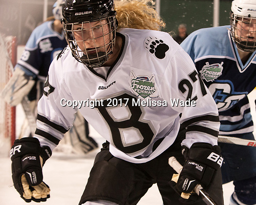 Marissa Fichter (Bowdoin - 27) - The Babson College Polar Bears defeated the Connecticut College Camels 3-0 on Thursday, January 12, 2017, at Fenway Park in Boston, Massachusetts.