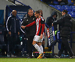 \sum takes off Billy Sharp of Sheffield Utd during the Championship match at the Macron Stadium, Bolton. Picture date 12th September 2017. Picture credit should read: Simon Bellis/Sportimage